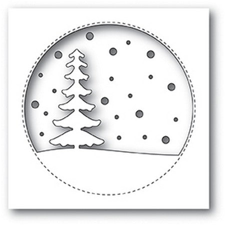Memory Box - Snowy Tree Circle