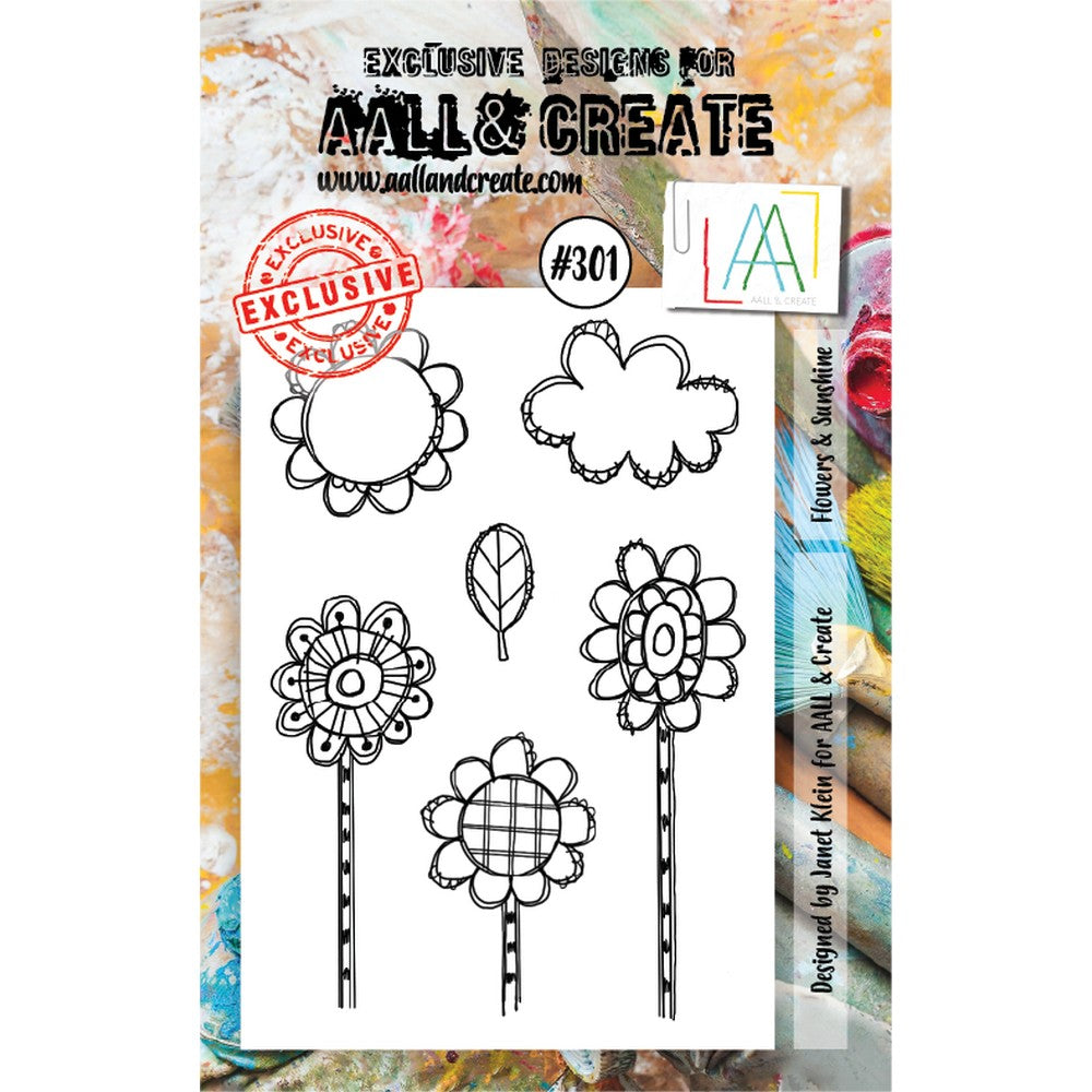 AALL & Create - Stamps - Flowers & Sunshine #301
