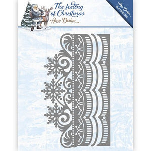 Amy Design - The Feeling Of Chirstmas - Ice Crystal Border