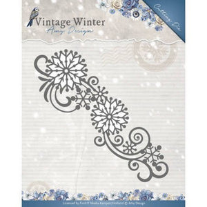 Amy Design - Vintage Winter Collection - Snowflake Swirl Border