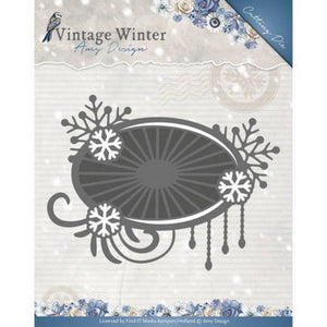 Amy Design - Vintage Winter Collection - Snowflake Swirl Label
