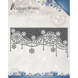 Amy Design - Vintage Winter Collection - Snowflake Swirl Edge