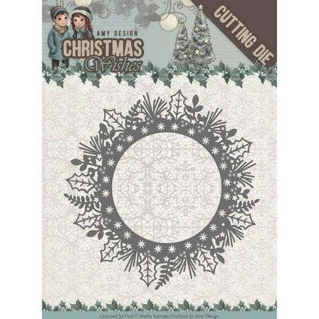 Amy Design - Christmas Wishes - Holly Wreath