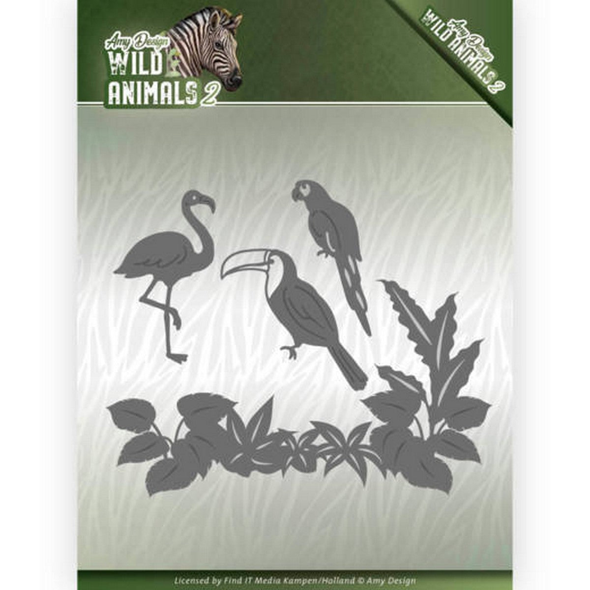 Amy Design - Dies - Wild Animals 2 - Tropical Birds