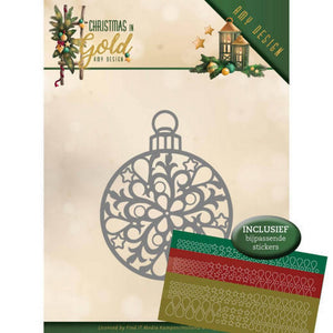 Amy Design -Dies - Christmas In Gold - Christmas Bauble Hobbydots