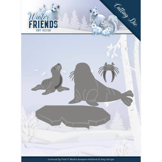 Amy Design - Dies - Winter Friends - Polar Friends
