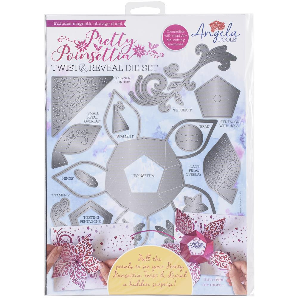 Angela Poole Twist & Reveal Die Set - Pretty Poinsettia