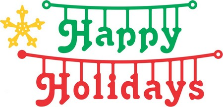 Cheery Lynn Designs - Happy Holidays hanger