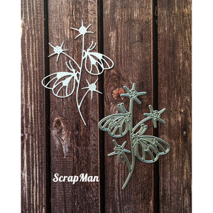 ScrapMan - Dies - Butterflies On A Branch
