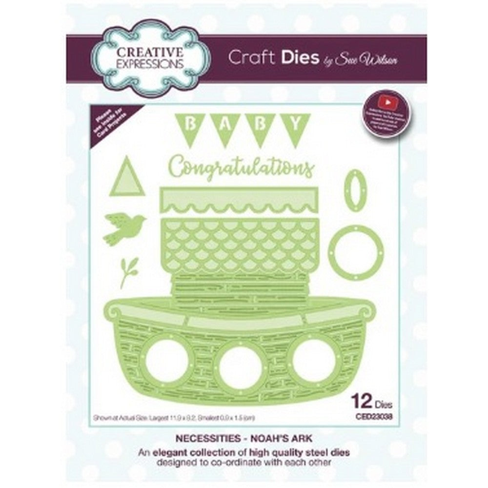 Sue Wilson Designs - Dies - Necessities Collection - Noah's Ark