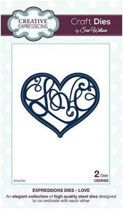 Sue Wilson Designs - Expressions Collection - Love