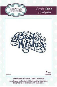 Sue Wilson Designs - Expressions Collection - Best Wishes
