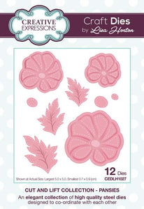 Cut and Lift Collection Pansies Craft Die