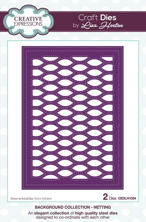 Creative Expressions - Background Collection Netting Craft Die