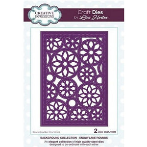 Creative Expressions - Background Collection Snowflake Rounds Craft Die