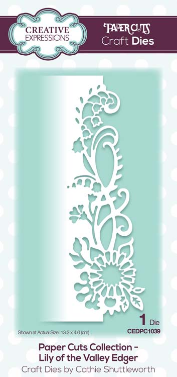 Paper Cuts Collection Lily of the Valley Edger Craft Die
