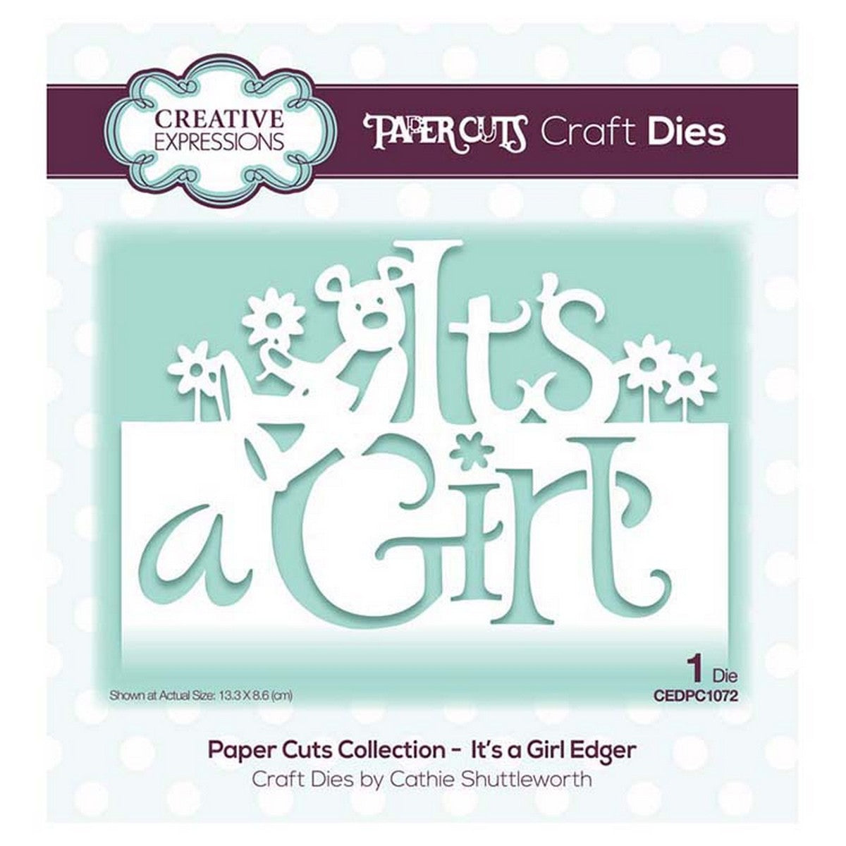 Creative Expressions - Paper Cuts Collection - It's a Girl Edger