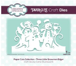 Creative Expressions - Dies - Paper Cuts Collection - Three Little Snowmen Edger