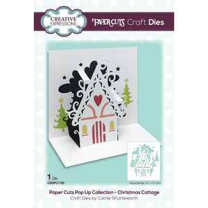 Creative Expressions - Paper Cuts - Pop-Up Die - Christmas Cottage