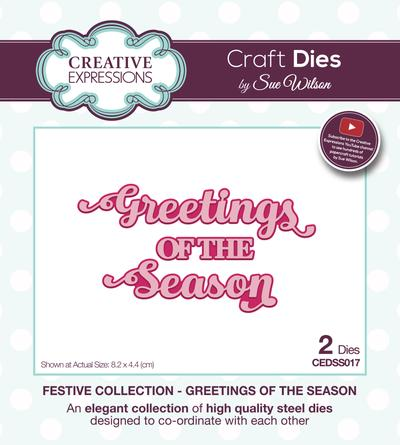 Sue Wilson - Festive Collection - Greetings Of The Season