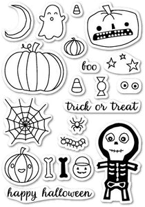 Memory Box - Halloween Sideshow Clear Stamp Set