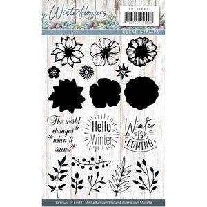 Precious Marieke - Clear Stamp Set - Winter Flowers