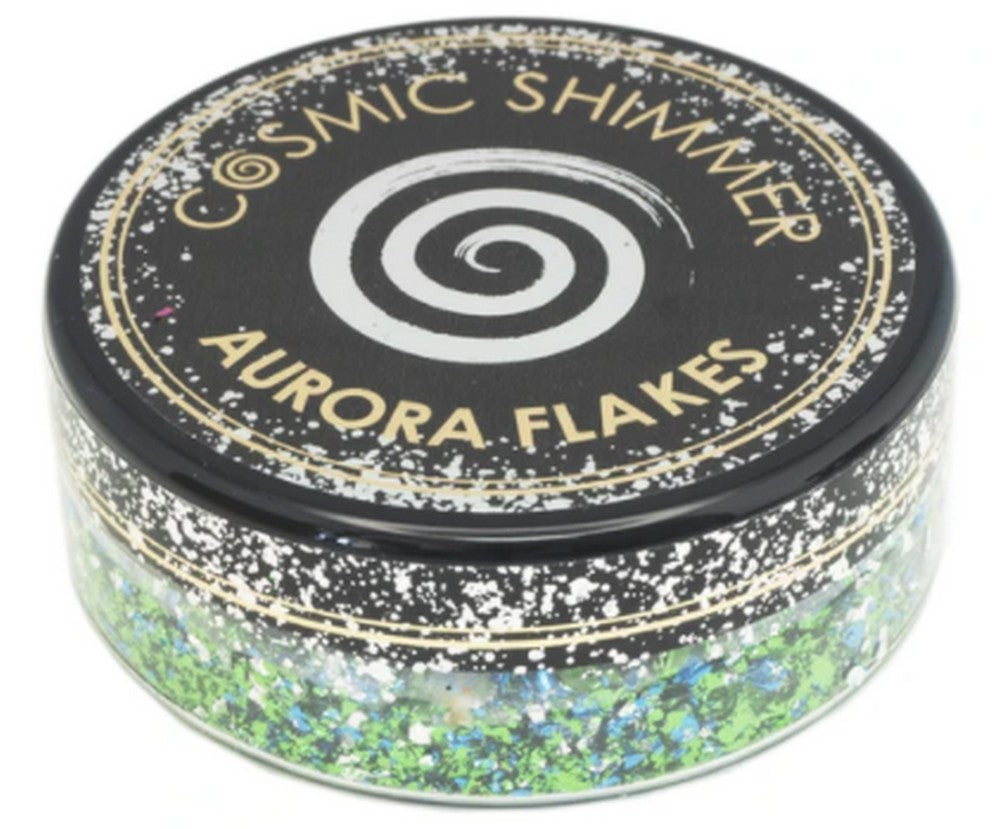 Cosmic Shimmer Aurora Flakes 50ml - Icy Lagoon