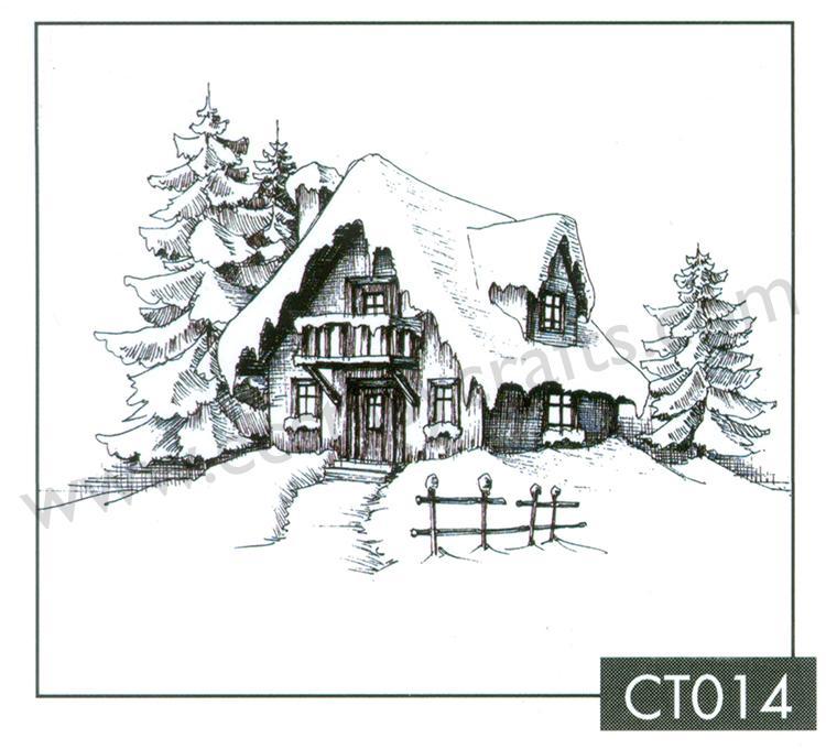 Nellie's Choice - Clear Stamp - Snowy House