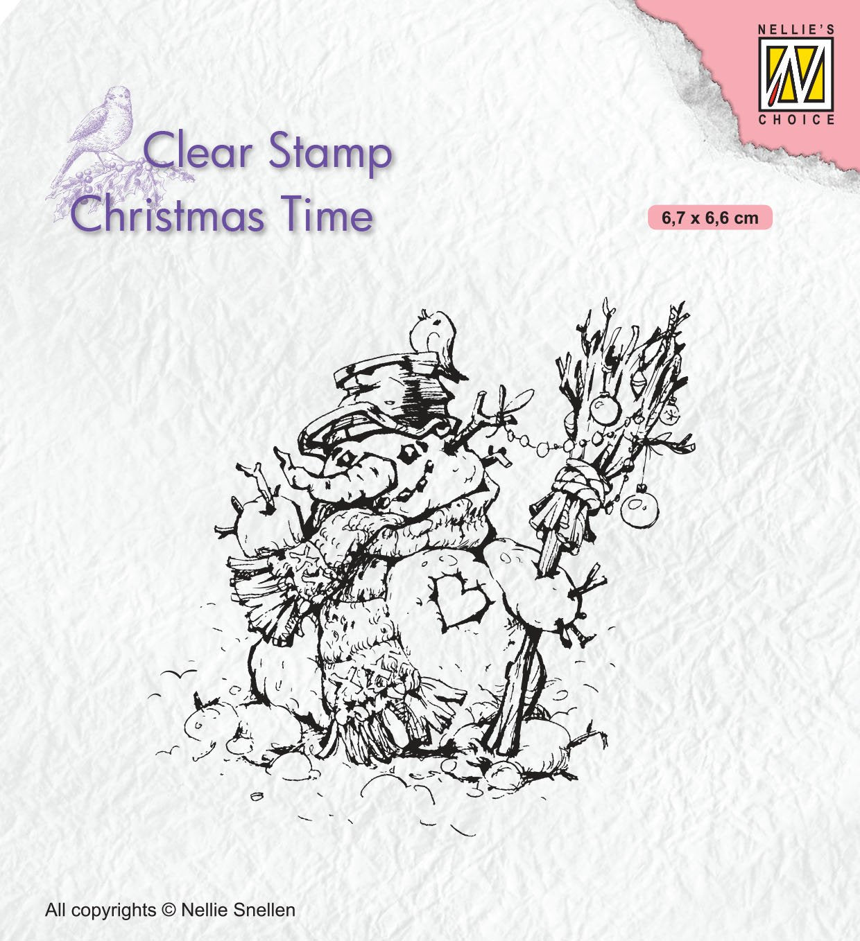 Nellie's Choice - Clear Stamp - Snowman
