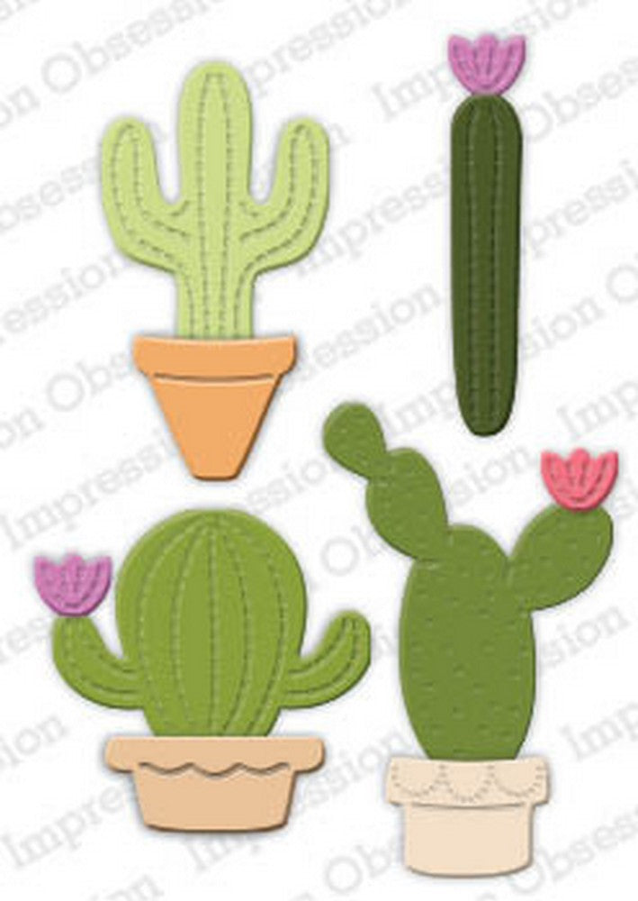 Impression Obsession - Dies - Potted Cactus