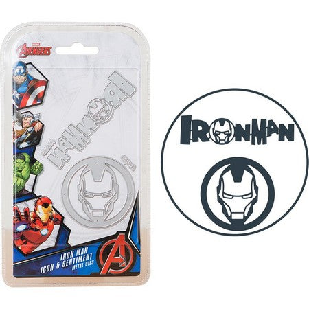 Marvel - Cutting Dies - Avengers - Iron Man Icon & Sentiment