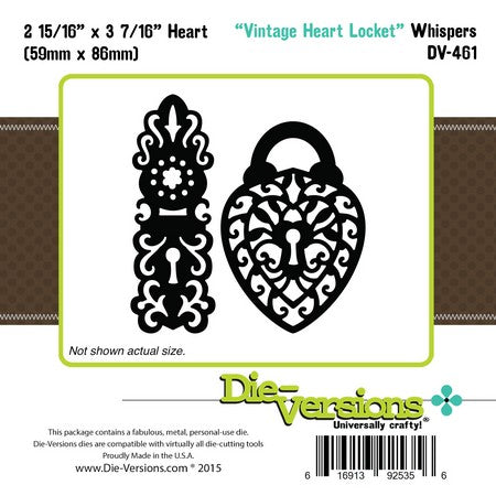 Die-Versions - Whispers - Vintage Heart Locket
