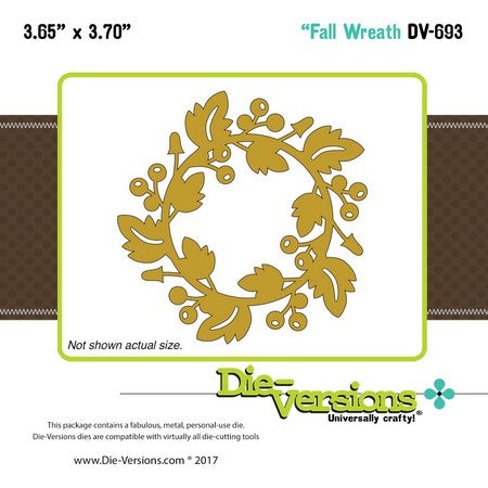 Die-Versions - Whispers - Fall Wreath