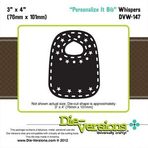 Die-Versions - Whispers - Personalize It Bib