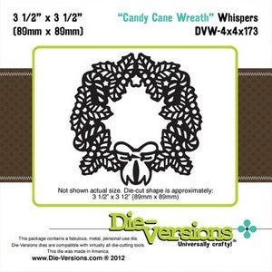Die-Versions - Whispers - Candy Cane Wreath