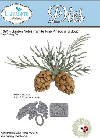 Elizabeth Craft Design - Garden Notes - Whitepine Boughs & Pinecone
