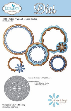 Elizabeth Craft Design - Fitted Frames 5 - Lace Circles