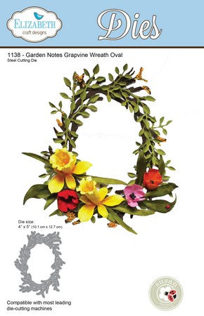 Elizabeth Craft Design - Grapevine Wreath Oval