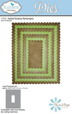 Elizabeth Craft Design - Dotted Scallop Rectangles