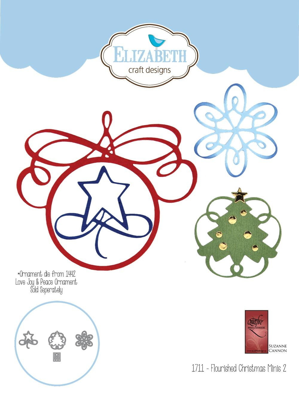 Elizabeth Craft Designs - Dies - Flourished Christmas Minis 2