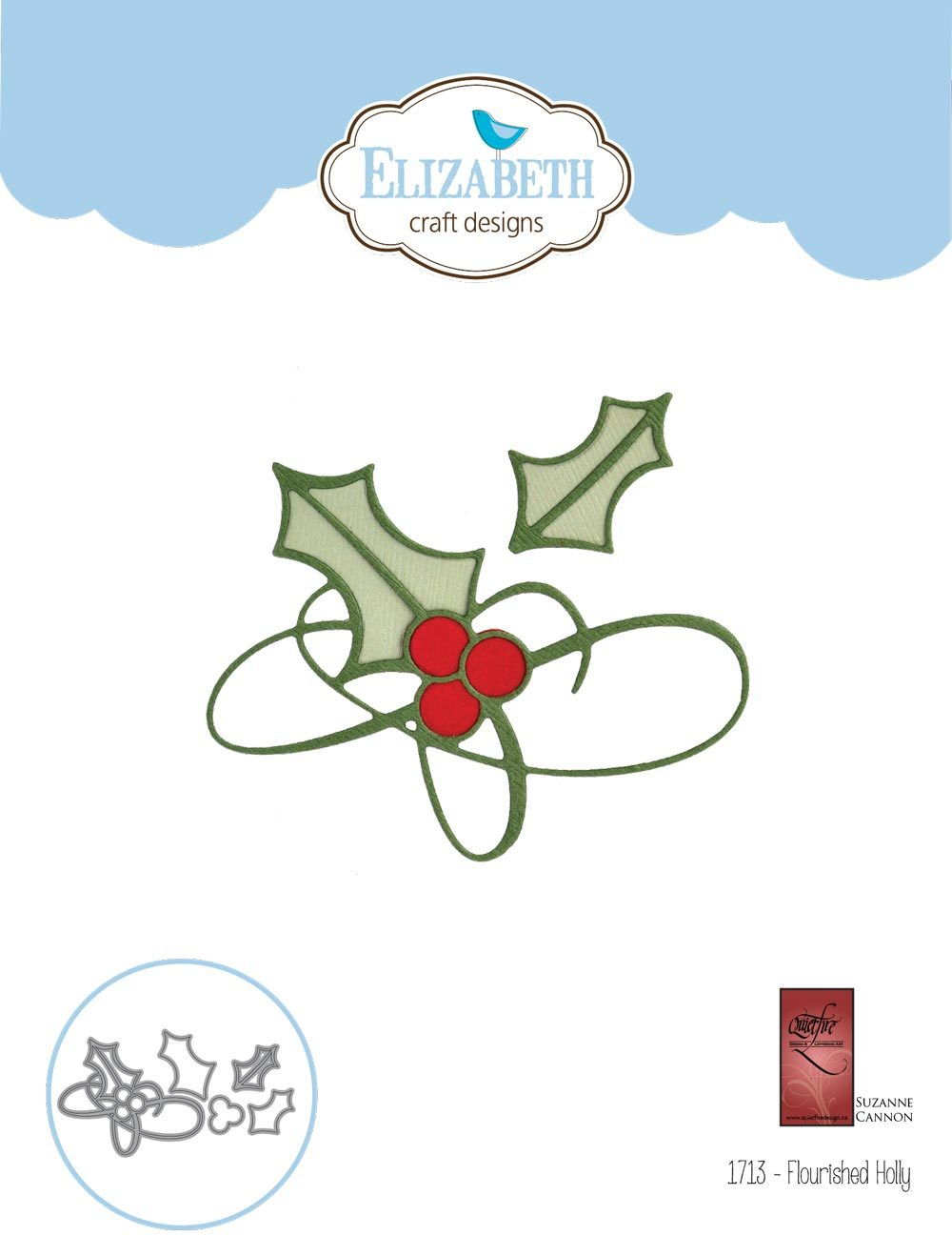 Elizabeth Craft Designs - Dies - Flourished Holly