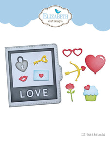 Elizabeth Craft Designs - Dies - Peek-A-Boo Love Set