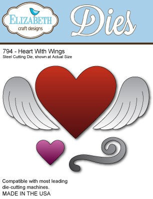 Elizabeth Craft Design - Heart With Wings