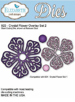 Elizabeth Craft Design - Crystal Flower Overlay Set 2