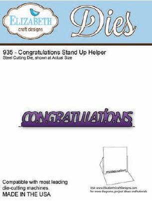 Elizabeth Craft Design - Congratulations Stand Up Helper