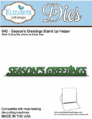 Elizabeth Craft Design - Season's Greetings Stand Up Helper