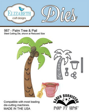 Elizabeth Craft Design - Palm Tree & Pail