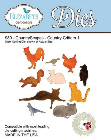 Elizabeth Craft Design - CountryScapes - Country Critters 1