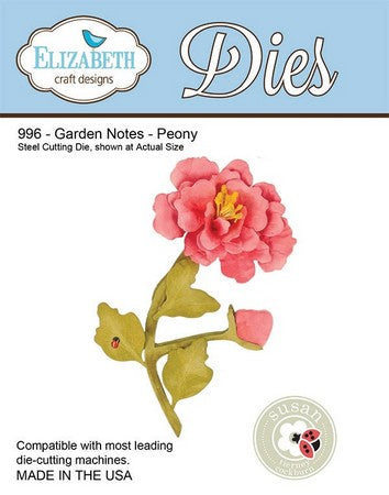 Elizabeth Craft Design - Garden Notes - Peony