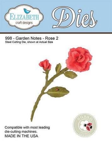 Elizabeth Craft Design - Garden Notes - Rose 2